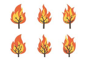 Collection d'illustration vectorielle de Burning Bush