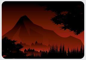 Vecteur forêt brûlante