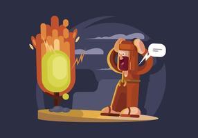 Illustration de Bush Burning vecteur