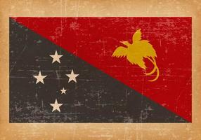 Drapeau grunge de Papouasie-Nouvelle-Guinée vecteur