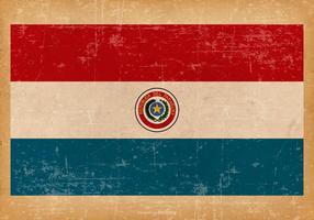 Drapeau grunge du Paraguay