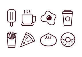 Paquet d'icônes alimentaires et boissons vecteur