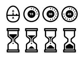 Vecteur libre d'icônes d'horloge d'oeuf