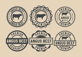 Vecteur de timbre de boeuf Angus