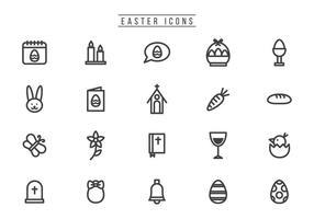 Vecteurs de Pâques gratuits