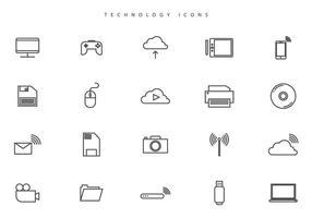 Vecteurs de technologie libre vecteur