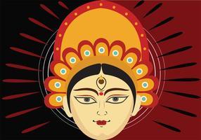 Art graphique de Durga vecteur