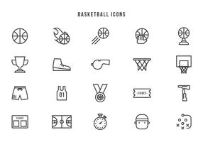 Vecteurs gratuits de basketball