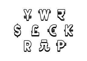 Symbole de devise libre icône vecteur