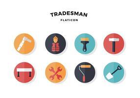 Icône du tradesman vecteur gratuit