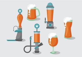 Pack de vecteur de pompe à bière