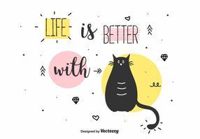 Vecteur amoureux des chats