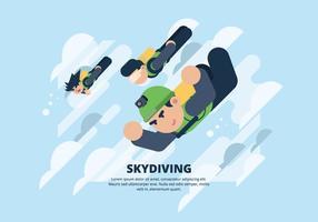 Illustration de parachutisme