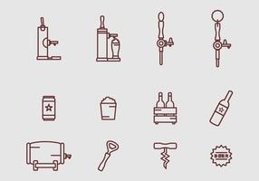 Vecteur d'icônes de bière