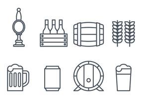 Icônes de bière vecteur