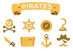 Vecteur pirate icônes gratuit