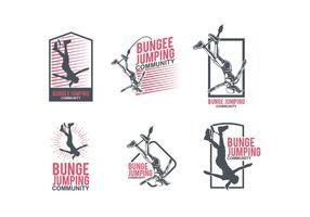 Modèle de logo Jumping Bungee vecteur