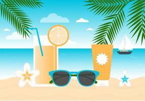Fond d'écran gratuit Flat Summer Beach vecteur