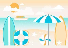 Fond d'écran gratuit de vacances d'été vecteur