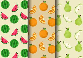 Patrons de fruits mignons gratuits vecteur