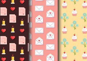 Free Cute Valentine's Day Patterns vecteur