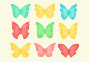 Vecteur de papillons granulés gratuits
