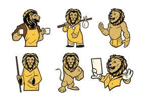 Vecteur gratuit de mascotte de lion 01