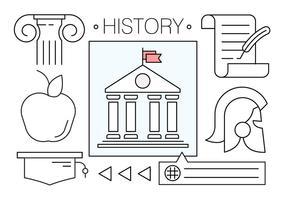 Icônes vectorielles gratuites à propos de l'histoire vecteur