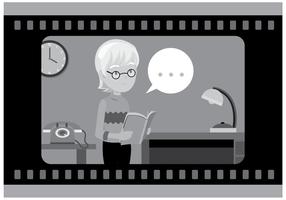 Vecteur d'actrice de film silencieux gratuit