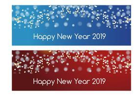 Bannières du Nouvel An 2018 vecteur