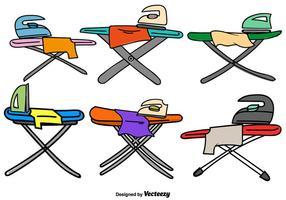 Vector Doodle table à repasser icônes de couleurs