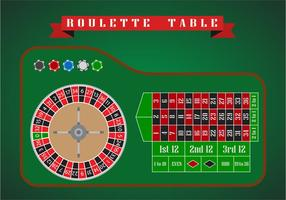 Table roulette Vecteur plat