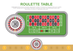 Illustration vectorielle de table de roulette