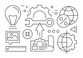 Icônes d'affaires minimales vecteur