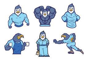 Vecteur gratuit de la mascotte des pingouins