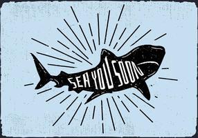 Vector Free Vector Shark Silhouette Illustration Avec Typographie