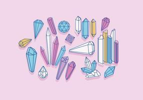 Vecteur de quartz couleur douce