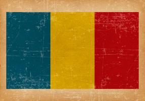Drapeau grunge de la Roumanie vecteur