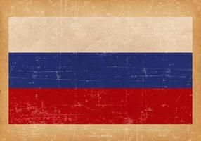 Drapeau grunge de la Russie vecteur