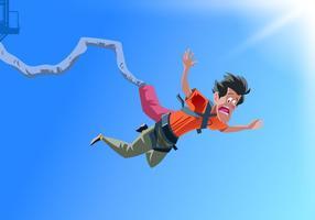 Vecteur Bungee Jumper tomber dans la peur