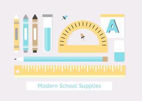 Éléments vectoriels libres de retour à l'école