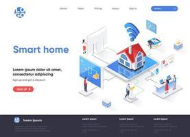 page de destination isométrique maison intelligente