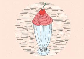Illustration à vecteur libre de glace à la main