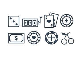 Paquet d'icônes de casino vecteur
