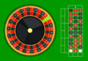 Exemple de table vectorielle de la roulette