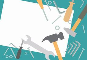 Ensemble d'outils de travail vecteur