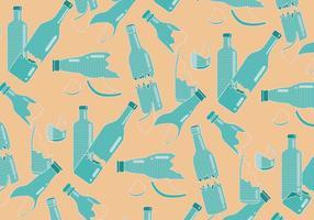 Vecteur de polkadot à motif de bouteille brisée
