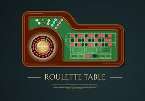 Illustration vectorielle de table de roulette réaliste