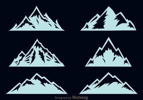 Vecteur d'icônes de montagne importée