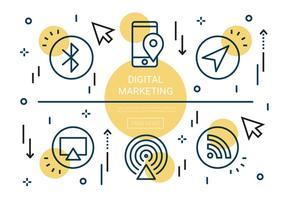Free Linear Digital Marketing Vector Elements
